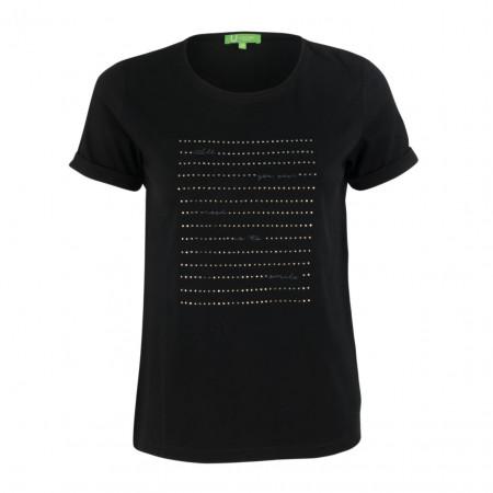 SALE % | Boss Casual | T-Shirt - Regular Fit - Strassprint | Schwarz online im Shop bei meinfischer.de kaufen