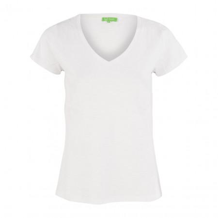 SALE % | Boss Casual | T-Shirt - Regular Fit - V-Neck | Weiß online im Shop bei meinfischer.de kaufen