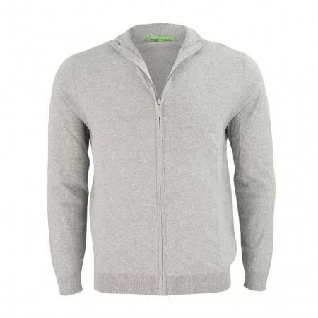 SALE % | Boss Casual | Strickjacke - Regular Fit - Stehkragen | Grau online im Shop bei meinfischer.de kaufen