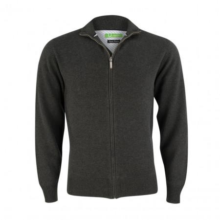 SALE %   Boss Casual   Strickjacke - Regular Fit - Zipper   Grau online im Shop bei meinfischer.de kaufen