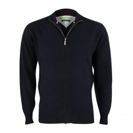 SALE % | Boss Casual | Strickjacke - Regular Fit - Zipper | Blau online im Shop bei meinfischer.de kaufen
