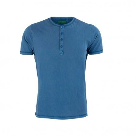 SALE % | Boss Casual | Henleyshirt - Slim Fit - kurzarm | Blau online im Shop bei meinfischer.de kaufen