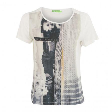SALE % | Boss Casual | T-Shirt - Leisure Fit - Imperfection | Weiß online im Shop bei meinfischer.de kaufen