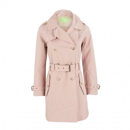 SALE % | Boss Casual | Trenchcoat - Slim Fit - Zweireiher-Optik | Rosa online im Shop bei meinfischer.de kaufen