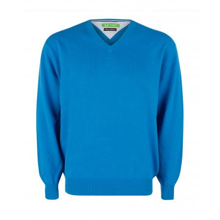 SALE % | U Fischer | Pullover - Regular Fit - V-Neck | Blau online im Shop bei meinfischer.de kaufen