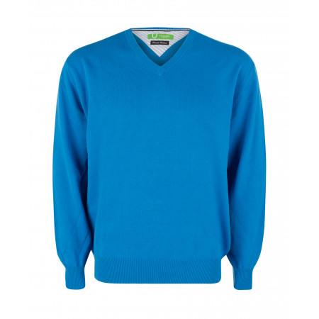 SALE % | Boss Casual | Pullover - Regular Fit - V-Neck | Blau online im Shop bei meinfischer.de kaufen