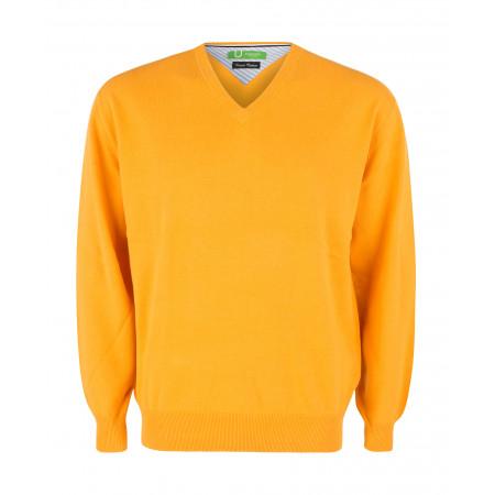 SALE % | Boss Casual | Pullover - Regular Fit - V-Neck | Gelb online im Shop bei meinfischer.de kaufen