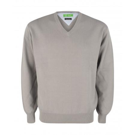 SALE % | Boss Casual | Pullover - Regular Fit - V-Neck | Grau online im Shop bei meinfischer.de kaufen