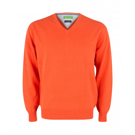 SALE % | Boss Casual | Pullover - Regular Fit - V-Neck | Orange online im Shop bei meinfischer.de kaufen