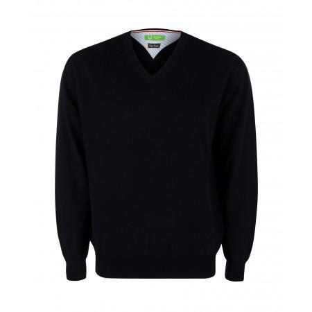 SALE % | Boss Casual | Pullover - Regular Fit - V-Neck | Schwarz online im Shop bei meinfischer.de kaufen