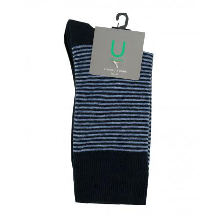 SALE % | U Fischer | Socken - 2er-Pack - 2 Farben | Blau online im Shop bei meinfischer.de kaufen