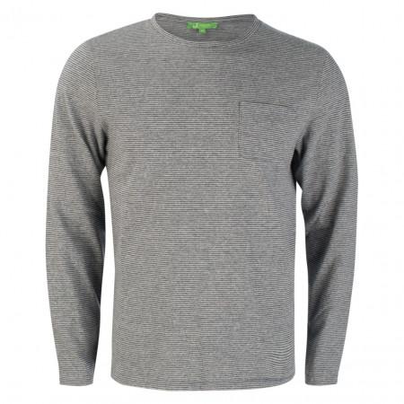SALE % | U Fischer | Longsleeve - Regular Fit - Stripes | Grau online im Shop bei meinfischer.de kaufen