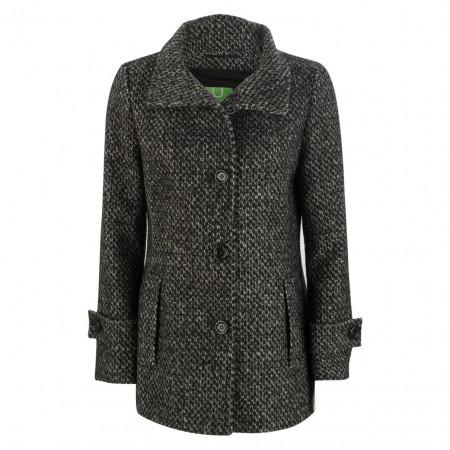 SALE % | U Fischer | Mantel - Regular Fit - Wolle | Schwarz online im Shop bei meinfischer.de kaufen