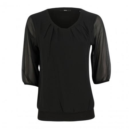SALE % | Zero | Blusenshirt - Regular Fit - 3/4-Arm | Schwarz online im Shop bei meinfischer.de kaufen