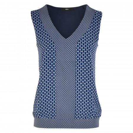 SALE % | Zero | Shirtbluse - Loose Fit - Print | Blau online im Shop bei meinfischer.de kaufen