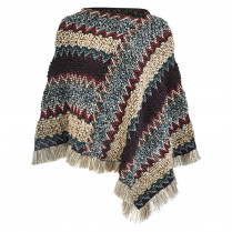 Poncho - Loose Fit - Strick