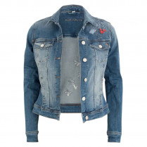 Denimjacke - Regular Fit - Applikationen 100000