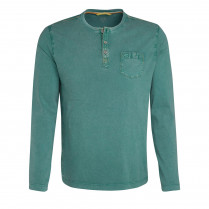 Henleyshirt - Regular Fit - unifarben 100000
