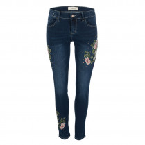 Jeans - Skinny Fit - Flower-Patch