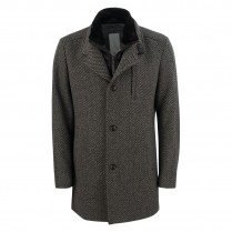 Wollmantel - Modern Fit - Muster 100000