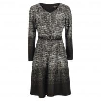 Kleid - Regular Fit - Jacquard-Check