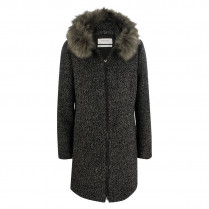 Wollmantel - Regular Fit - Fake Fur 100000