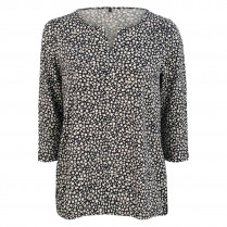 Bluse - Loose Fit - Dot Print 100000