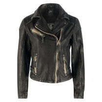 Lederjacke - Used Look - Zipper 111972