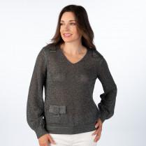 Pullover - Comfort Fit - Glitzer-Optik