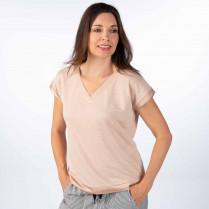 Blusenshirt - Regular Fit - kurzarm