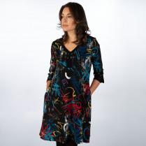 Kleid - Loose Fit - Muster