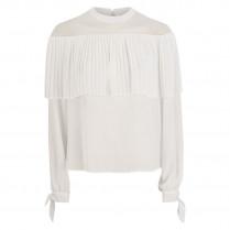 Bluse - Regular Fit - Plissee 100000