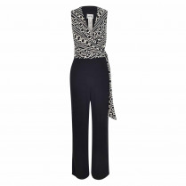Jumpsuit - Regular Fit - Material-Mix