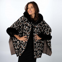 Poncho - Over Size - Muster