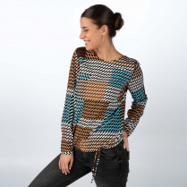 Bluse - Loose Fit - 1/1 Arm
