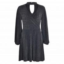 Kleid - Regular Fit - Glitzeroptik
