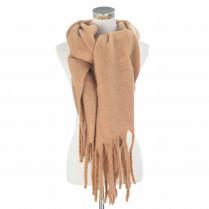 Schal - Wollmischung - Unifarben