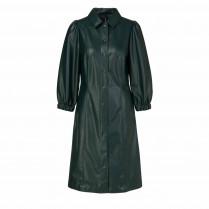 Kleid - Regular Fit - Leder-Optik