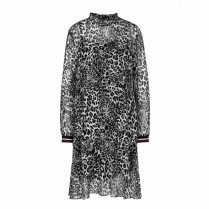 Kleid - Loose Fit - Leoprint