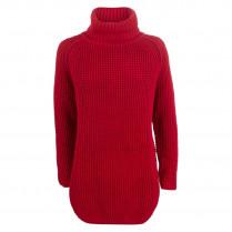 Langer Pullover - Comfort Fit - Rollkragen
