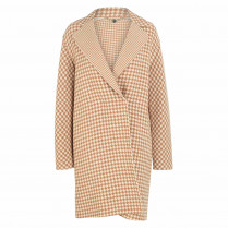 Wollmantel - Loose Fit - Houndstooth