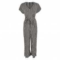 Jumpsuit - Regular Fit - Stripes