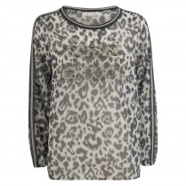 Bluse  - oversized - Leoprint 100000