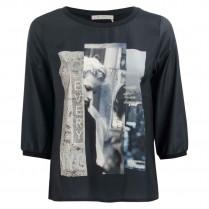 Satinbluse - Comfort Fit - Print 100000