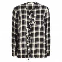 Bluse - Loose Fit - Glencheck