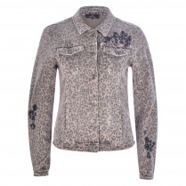 Jeansjacke - Regular Fit - Pailletten