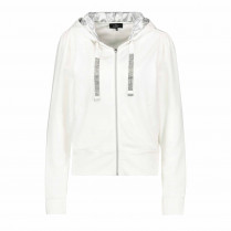 Sweatjacke - Regular Fit - Material-Mix