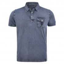 Poloshirt - Regular Fit - Denim-Optik