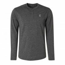 Henleyshirt - Regular Fit - unifarben
