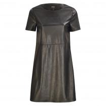 Kleid - Wasine - Leder-Optik